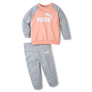 PUMA Unisex Minicats Inf Raglan ESS Crew Jogger Baby Trainingsanzug, Größe:86 / 12-18 M, Farbe:Rosa (Apricot Blush)