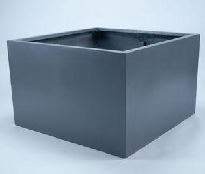 Elegant Einrichten Pflanzkübel Blumenkübel Fiberglas niedrige quadratisch 110x110x70cm anthrazit-metallic., Farbe:Anthrazit Metallic