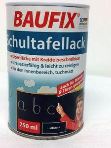 Baufix Schultafellack 750ml schwarz Kreide malen schreiben Tafel
