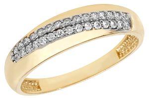 Moderner 9 Karat (375) Gold Damen - Ring mit Zirkonia, 57 (18.1); WJS11280