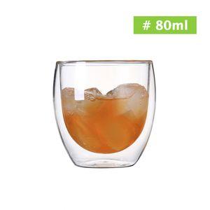 Glasbecher Kaffeetassen Doppelwand 80-600ml Getr?nke Isolierte Thermoglaswaren Essteebeh?lter