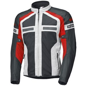Held Tropic 3.0 Motorrad Textiljacke Farbe: Grau/Rot, Grösse: XL