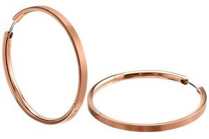 Boccia 0508-10 Damen-Ohrringe Creolen Titan roségoldfarben