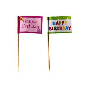 240 Deko-Picker 8 cm  Happy Birthday