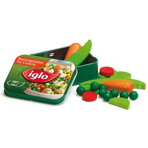 2 Stück Erzi Gemüse von Iglo in der Dose, Spielzeug-Gemüse, Kaufladenzubehör