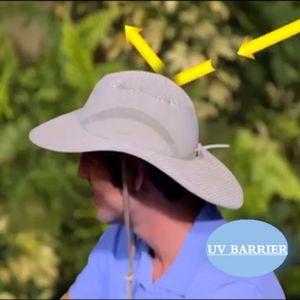 Sommerhut Sommer Strand Sonne Simse breiten UV-Schutz im Freien Hut -(als Bild zeigen,)