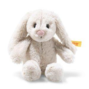 Steiff 080852 Soft Cuddly Friends Hoppie Hase   Kuscheltier, hellgrau, 16 cm