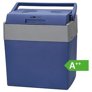 Clatronic Kühlbox KB 3714 ECO Save Ideal für Camping, Reise und Einkauf, 12- bzw. 230 Volt-Anschlusskabel auch zum Warmhalten geeignet, ca. 30 L, blau-grau [Energieklasse A++]