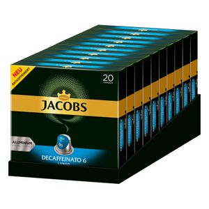 JACOBS Kapseln Decaffeinato 6 Lungo entkoffeiniert 200 Nespresso®* kompatibel