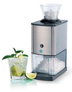 4050 Gastro Ice Crusher - Eiscrusher - Eiszerkleinerer Elektrisch - 15 kg/h - 3,5 Liter Eisbehälter - ufsetzbarer Einfülltrichter - Sicherheitsschalter - Edelstahlgehäuse - Silber