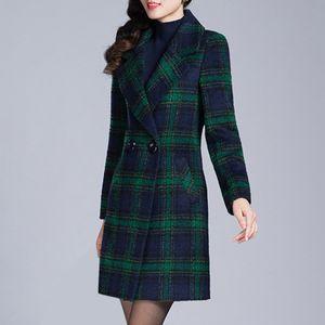 Wintermode Slim Coat Frauen Langärmeliger Casual Medium Long Slim Coat Größe:XXXL,Farbe:Grün