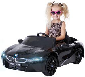 Kinder Elektro Auto BMW I8 Kinderauto Elektrofahrzeug Kinderfahrzeug Spielzeug (Schwarz)