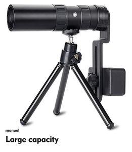 4K 10-300X40mm Super Zoom Monokulare Teleskop BAK4 Prisma für Wandern + Clip 192 × 32 mm Monokular + Stativ + Clip Monokulares