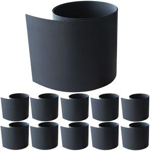 10X HART PVC Sichtschutz Anthrazit Sichtschutzstreifen Doppelstabmattenzaun Zaunfolie Zaun Streifen Folie Zaunblende Windschutz Garten