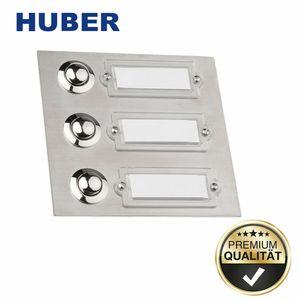 Huber 12508 Klingelplatte Klingelknopf Klingelschild Klingeltaster