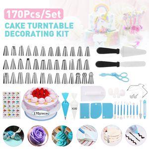 MECO 170-tlg Tortenplatte Drehbar Set Tortenständer Spritzbeutel Tortenständer Cake Decorating Set