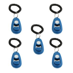 Hundegehorsam Beweglichkeitstraining Click Clicker Mit Anpassbarem Sound Am Schlüsselbund Blau 7x4x2cm