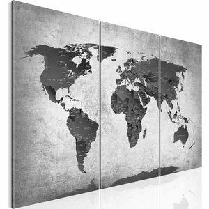 Weltkarte World Map BILD 120x80 cm − FOTOGRAFIE AUF VLIES LEINWANDBILD XXL DEKORATION WANDBILDER MODERN KUNSTDRUCK MEHRTEILIG 107631c