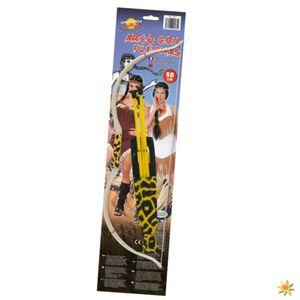 Fiestas Guirca pfeil und Bogen Set 50 cm weiß/gelb 5-teilig