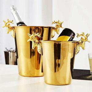 3L Sektkühler Edelstahl Flaschenkühler Weinkühler Eiseimer Champagnerschale Eiseimer