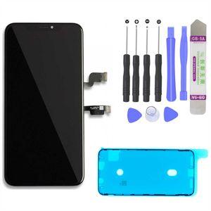 """iPhone XS Max 6,5"""" (A1921, A2101, A2102, A2103, A2104) 3D Retina LCD Display Bildschirm Glas Scheibe Touch Screen Digitizer Schwarz"""