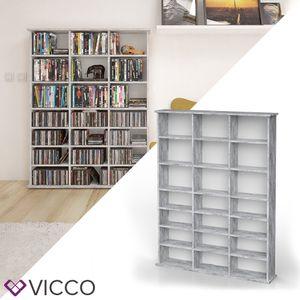 VICCO Medienregal JUKEBOX Beton Optik CD DVD Bluray Regal Standregal Regalwand