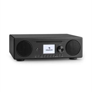 auna Connect CD Kompaktanlage - Internetradio, Digitalradio, WLAN, DAB+, UKW-Tuner mit RDS, Bluetooth, Spotify Connect, AUX, 10 Senderspeicherplätze, CD Player, USB, Farbdisplay, schwarz