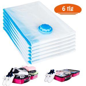 Rexoo 6tlg Vakuum Beutel 80x60 cm Aufbewahrungsbeutel Tasche Tüte Vacuum für Textilien jeder Art Platzsparer
