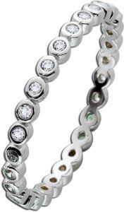 Silber Memoire Ring weißen Zirkonia Silber 925  17