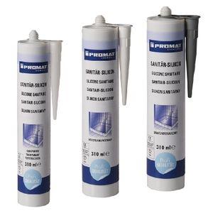 PROMAT CHEMICALS Sanitär-Silikon weiß 310 ml Kartusche PROMAT chemicals
