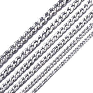 DonDon® Herren Halskette Panzerkette Edelstahl Länge 56 cm - Breite 0,45 cm