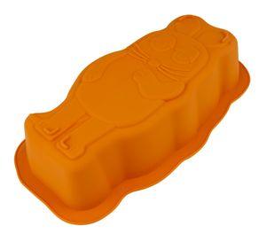 "Dr. Oetker ""Maus"" Silikon-Motivbackform DieMaus, geschmacksneutrale Backform, fruchtsäurebeständige Form, hochwertiges Backmuster, langlebige Silikon-Form (Farbe: Maus-Orange)"