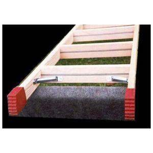 Dönges Leiternschuhe für Stufenleiter aus Holz, für Holmmaß 70 x 23 mm