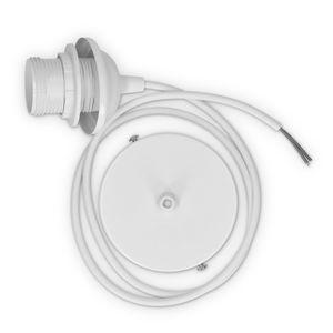 Lampenfassung E27 mit Deckenbefestigung weiß mit 90 cm Kabel
