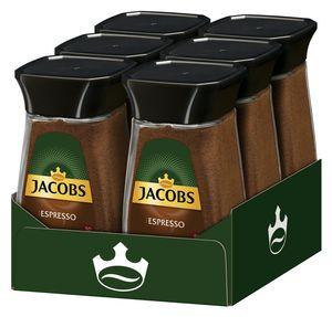 JACOBS Espresso löslicher Kaffee 6 Gläser - 6 x 100g Instantkaffee