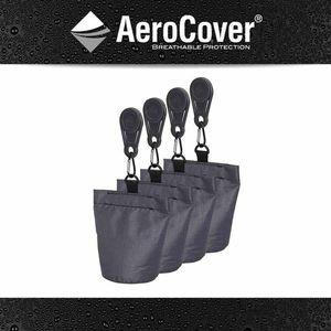 AeroCover 781-2 Sandsäcke für Schutzhülle 4x Sandsack + 4x Clip, anthrazit