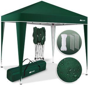 tillvex Pavillon 3x3m Grün wasserdicht   Pop-Up Faltpavillon höhenverstellbar   Gartenzelt UV Schutz 50+   Partyzelt mit Tasche für Garten
