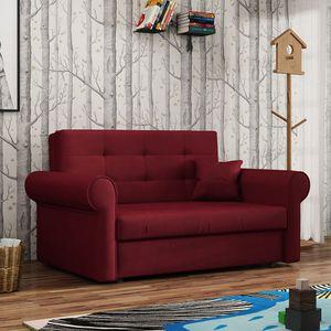 Mirjan24 Schlafsofa Viva Silver II, Stilvoll Zweisitzer Couch, Sofa mit Bettkasten und Schlaffunktion, Schlafcouch (Kronos 02)