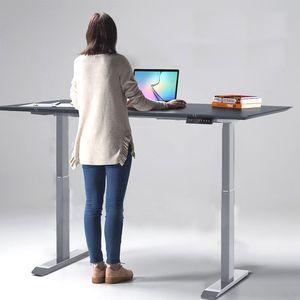 Karpal Hoehenverstellbarer Schreibtisch Memoryfunktion Hubsaeulentisch elektrisch grau
