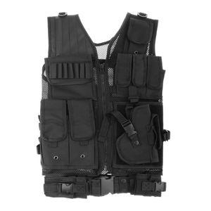 Taktische Molle Weste Militär Weste für Unisex Einstellbar Leichte Weste Jacke für für Gaming Ausbildung