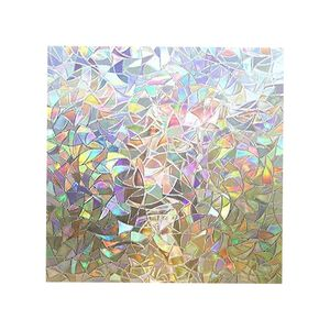 1X Fensterfolie 60X200cm Mehrfarbig Regenbogen Fenstertönung Glasaufkleber