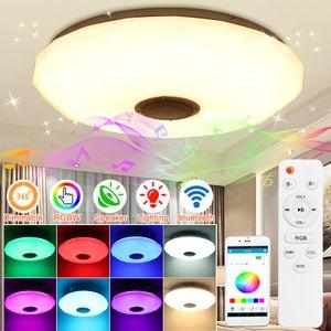 DIMMBAR 60W LED Deckenleuchte Deckenlampe bluetooth Lautsprecher APP+Remote