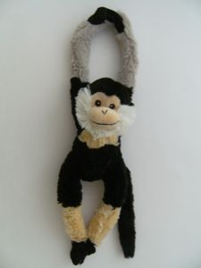 Plüschtier Affe 40 cm, Bartaffe, Hängeaffe Affen Hängeaffen Kuscheltiere Stofftiere Klettband