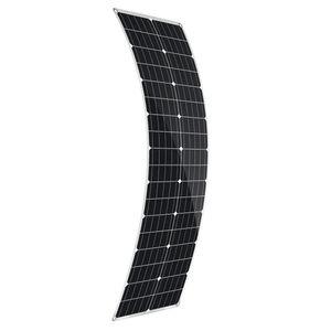 100W PET Flexible USB DC Monokristallines Solarpanel Solarmodule Auto Dachboot