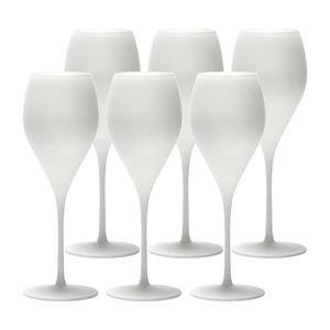 Stölzle Lausitz PRESTIGE Champagnerglas matt-weiß 345 ml 6er Set