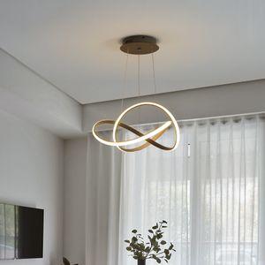 Eurotondisplay LED Pendelleuchte Hängelampe 9642 Ø 50 cm 96W Höhe max 120cm mit Fernbedienung Lichtfarbe einstellbar dimmbar Acryl-Schirm grau A+