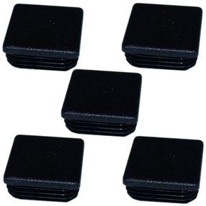 5x Lamellenstopfen 30 x 30 mm quadratrohre stopfen rohraußen endkappen schwarz