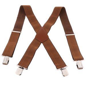 Elastische X-Form Hosenträger mit Hochwertigen Clips für Erwachsene