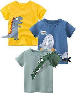 Padgene Baby Boy T-Shirt Baumwolltops T-Shirts Kurzarmhemd Baby Kids Unterhemd Krokodil 1-2 Jahre