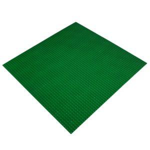 Platte 40cm x 40cm / 50x50 Pins, Große Grund- Bauplatte für Lego, Q-Bricks, MY, Sluban kompatibel, Grund-Platte, Grün für Wiese, Gras, Rasen